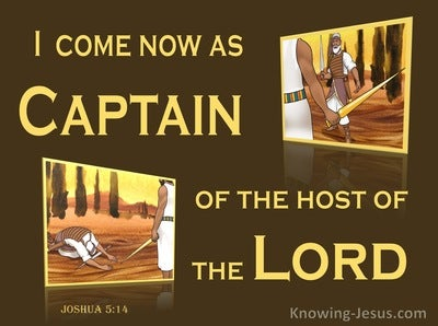 Joshua 5:14 Captain Of The Host Of The Lord (yellow)
