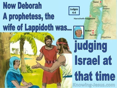 Judges  4-4 Deborah Was Judging Israel (blue)