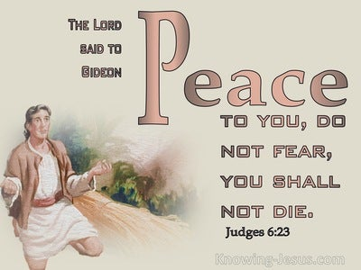 Judges 6:23 Peace To You Do Not Fear, You Shall Not Die (beige)