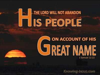 1 Samuel 12:22 The Lord Will Not Abandon His People (brown)