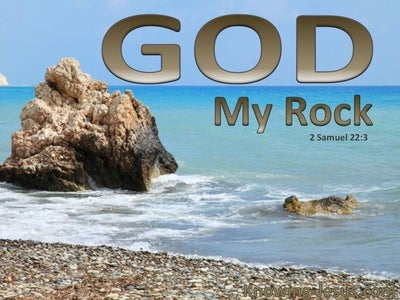 2 Samuel 22:3 God My Rock (devotional) (brown)