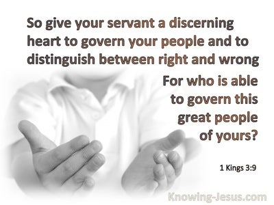 1 Kings 3:9 Give Your Servant An Understanding Heart (white)