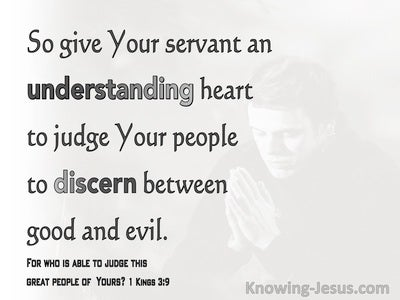 1 Kings 3:9 Give Your Servant An Understanding Heart (gray)