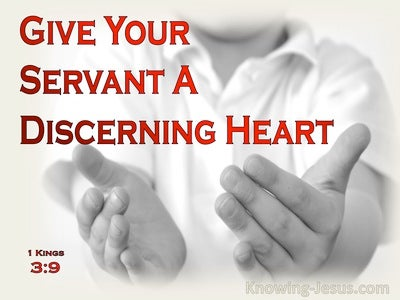 1 Kings 3:9 Give Your Servant An Understanding Heart (red)