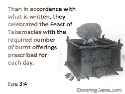 Ezra 3:4 They celebrated the Feast of Booths (beige)