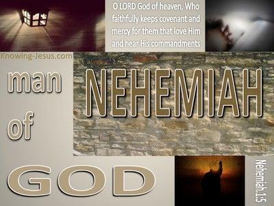 Nehemiah 1:5 Man Of God (devotional)12:01 (beige) (brown)