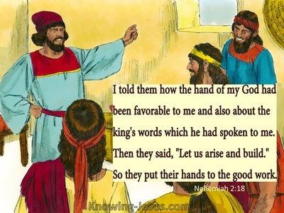 Nehemiah 2:18 tHe Hand Of My God Had Been Good Upon Me (yellow)