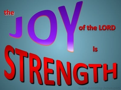 Nehemiah 8:10 The Joy Of The Lord Is Strength (red)