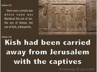 Esther 2:6 Kish Had Been Carried Away Into Exile (brown)