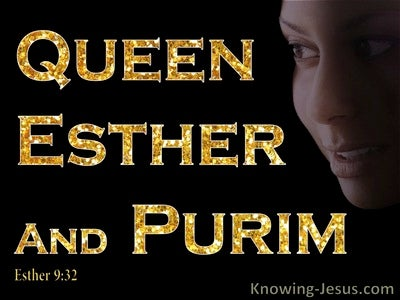 Esther 9:32 he Decree of Esther Established Purim (gold)