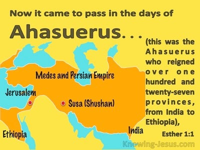 Esther 1:1 It Came To Pass In The Days Of Ahasuerus (orange)