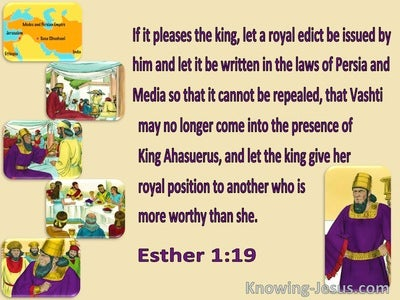 Esther 1:19 Let The King Give Her Royal Position To Another (yellow)