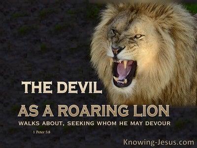 1 Peter 5:8 Have You Considered Satan (devotional)02:05 (black)