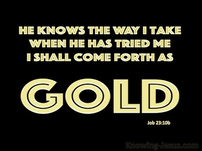 Job 23:10b He Knows The Way I Take (black)