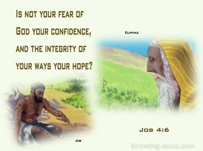 Job 4:6 Is Not Your Fear Of God Your Confidence (green)