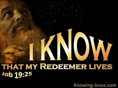 Job 19:25 I Know My Redeemer Lives (yellow)