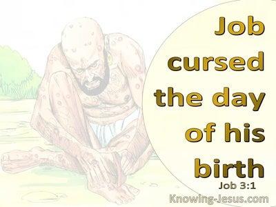 Job 3:1 Job Cursed The Day Of His Birth (yellow)