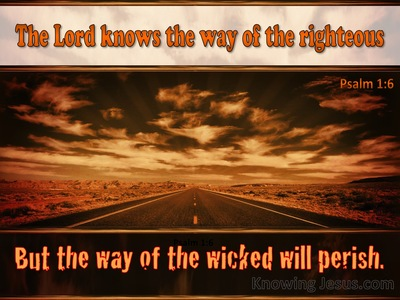 Psalm 1:6 The Lord Knows The Way Of The Righteous (brown)