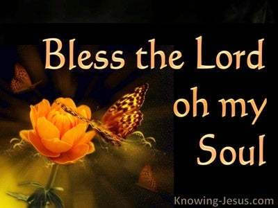 Psalm 103:2 Bless the LORD O My  Soul (orange)