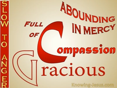 Psalm 103:8 The Lord Is Compassionate And Gracious (red)