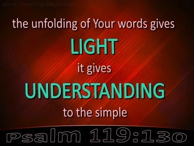 Psalm 119:130 You Word Gives Light And Understanding (red)