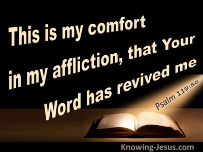 Psalm 119:50 Your Word Has Revived Me (brown)