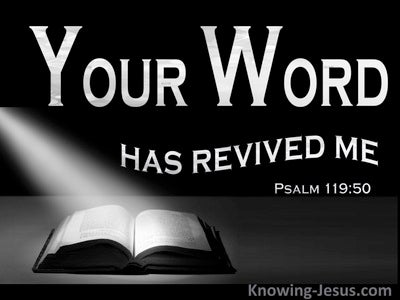 Psalm 119:50 Your Word Has Revived Me (gray)