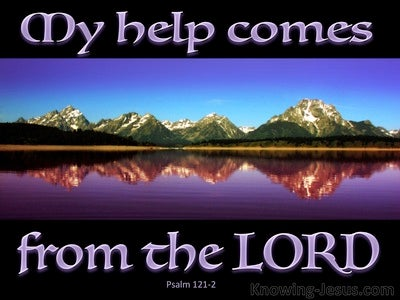 Psalm 121:2 My Help Comes From The Lord (purple)