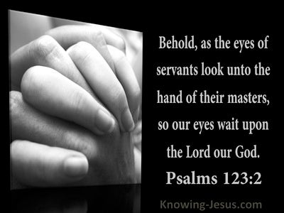 Psalm 123:2 So Our Eyes Wait Upon The Lord Our God (utmost)11:24