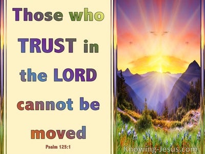 Psalm 125:1 Those Who Trust In The Lord Abide Forever (beige)