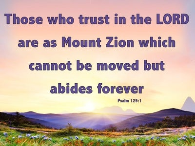 Psalm 125:1 Those Who Trust In The Lord Abide Forever (pink)
