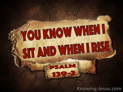 Psalm 139:2 You Know Me (red)
