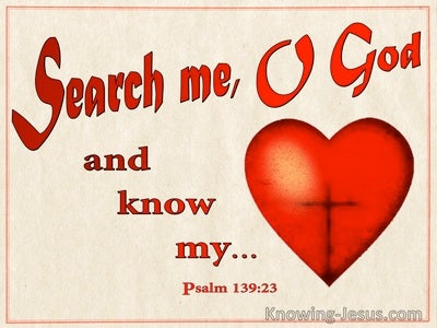 Psalm 139:23 Search Me O God And Know My Heart (beige)