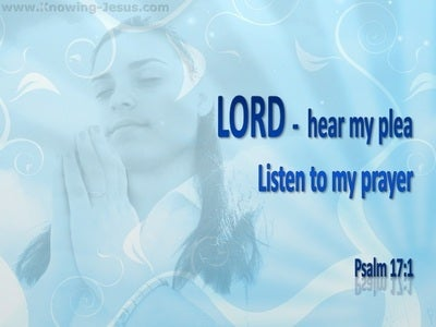 Psalm 17:1 Lord Hear My Plea (blue)