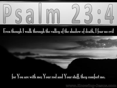 Psalm 23:4 The Valley Of The Shadow Of Death (black)