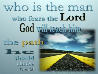 Psalm 25:12 He Who Fears God (aqua)