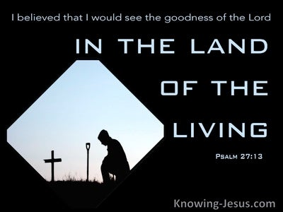 Psalm 27:13 The Goodness Of God  In The Land Of The Living (black)