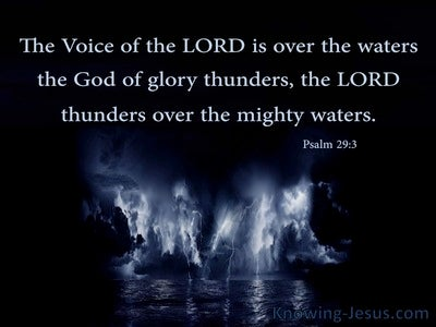 Psalm 29:3 The Voice Of The Lord Thunders (black)