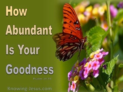 Psalm 31:19 Abundant Goodness (sage)
