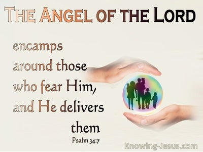 Psalm 34:7 The Angel Of The Lord (cream)
