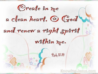 Psalm 51:10 Create In Me A Clean Heart (red)