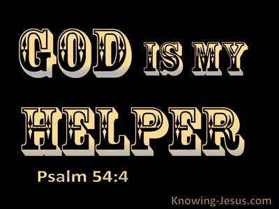 Psalm 54:4 God Is My Helper (black)