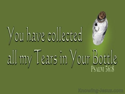 Psalm 56:8 You Collect All My Tears In Your Bottle (green)