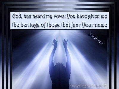 Psalm 61:5 For God Has Heard My Vows (blue)