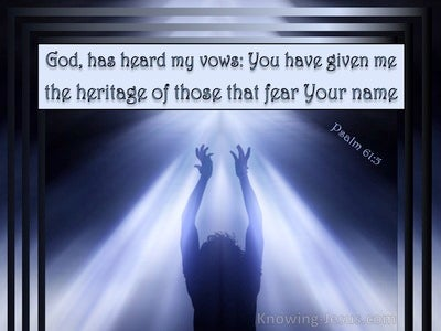 Psalm 61:5 God Has Heard My Vows (blue)