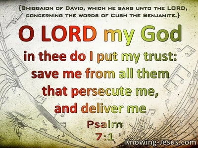 Psalm 7:1 In Thee Do I Put My Trust (green)
