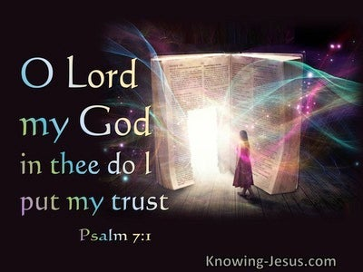 Psalm 7:1 In Thee Do I Trust (black)