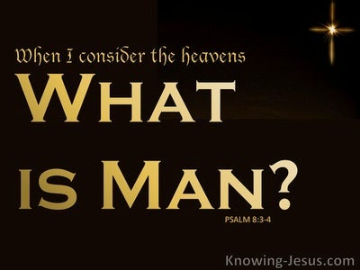 Psalm 8:3 When I Consider The Heavens (black)