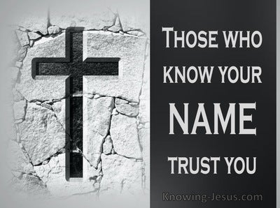Psalm 9:10 Those Who Know Your Name Trust You (white)