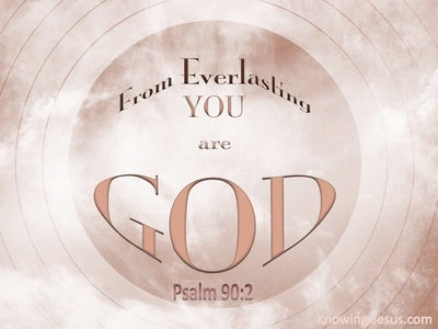 Psalm 90:2 From Everlasting You Are God (pink)